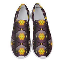 Pattern Background Yellow Bright Women s Slip On Sneakers by HermanTelo