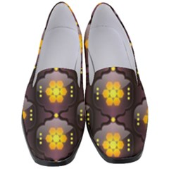 Pattern Background Yellow Bright Women s Classic Loafer Heels by HermanTelo