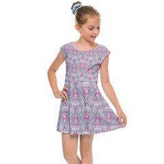Seamless Pattern Background Kids  Cap Sleeve Dress