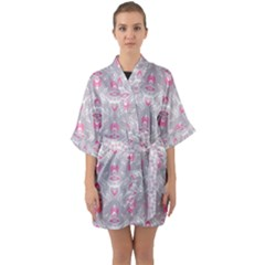 Seamless Pattern Background Quarter Sleeve Kimono Robe by HermanTelo