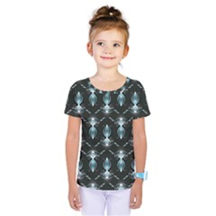 Seamless Pattern Background Black Kids  One Piece Tee by HermanTelo