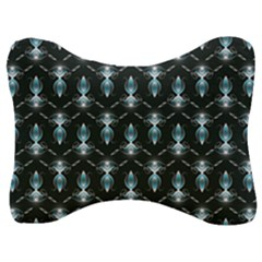 Seamless Pattern Background Black Velour Seat Head Rest Cushion
