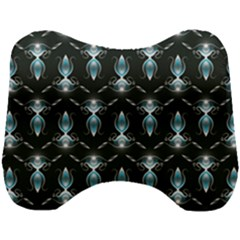Seamless Pattern Background Black Head Support Cushion