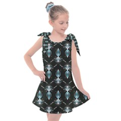 Seamless Pattern Background Black Kids  Tie Up Tunic Dress