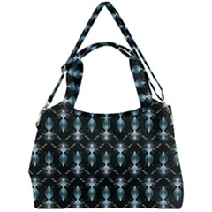 Seamless Pattern Background Black Double Compartment Shoulder Bag