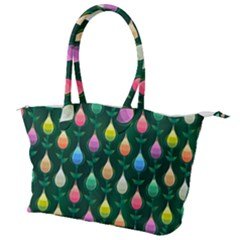 Tulips Seamless Pattern Background Canvas Shoulder Bag by HermanTelo