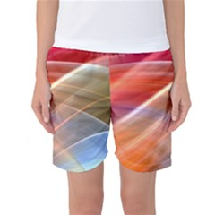 Wave Background Pattern Abstract Women s Basketball Shorts