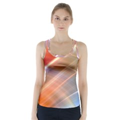 Wave Background Pattern Abstract Racer Back Sports Top