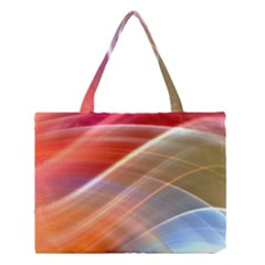Wave Background Pattern Abstract Medium Tote Bag