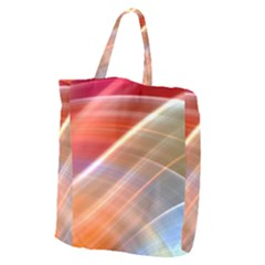 Wave Background Pattern Abstract Giant Grocery Tote
