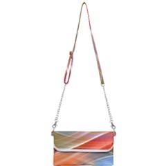 Wave Background Pattern Abstract Mini Crossbody Handbag