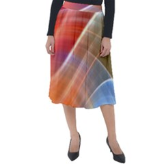 Wave Background Pattern Abstract Classic Velour Midi Skirt