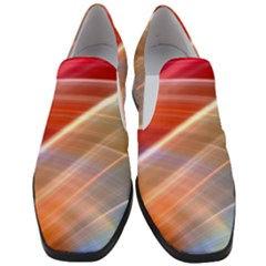 Wave Background Pattern Abstract Slip On Heel Loafers
