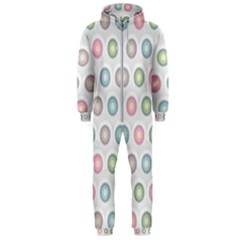 Seamless Pattern Pastels Background Pink Hooded Jumpsuit (men)  by HermanTelo