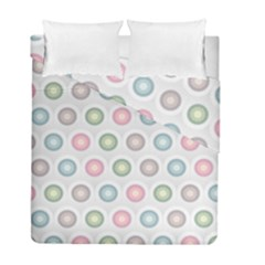 Seamless Pattern Pastels Background Pink Duvet Cover Double Side (full/ Double Size)