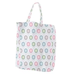 Seamless Pattern Pastels Background Pink Giant Grocery Tote