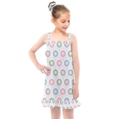 Seamless Pattern Pastels Background Pink Kids  Overall Dress