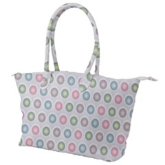 Seamless Pattern Pastels Background Pink Canvas Shoulder Bag