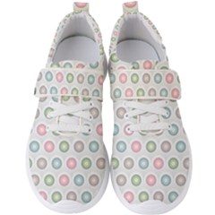 Seamless Pattern Pastels Background Pink Men s Velcro Strap Shoes