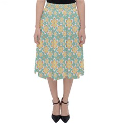 Seamless Pattern Floral Pastels Classic Midi Skirt