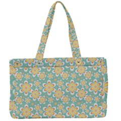 Seamless Pattern Floral Pastels Canvas Work Bag by HermanTelo