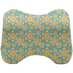 Seamless Pattern Floral Pastels Head Support Cushion