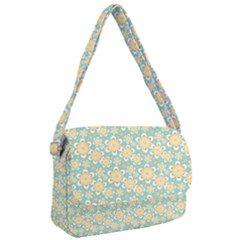 Seamless Pattern Floral Pastels Courier Bag