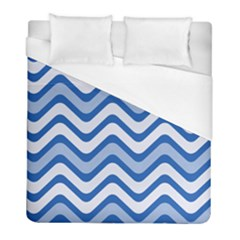 Waves Wavy Lines Duvet Cover (full/ Double Size) by HermanTelo