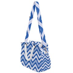 Waves Wavy Lines Rope Handles Shoulder Strap Bag by HermanTelo