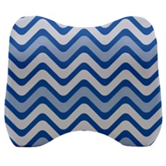 Waves Wavy Lines Velour Head Support Cushion