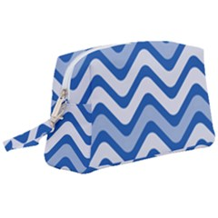 Waves Wavy Lines Wristlet Pouch Bag (large) by HermanTelo