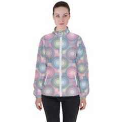 Seamless Pattern Pastels Background Women s High Neck Windbreaker by HermanTelo