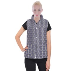 Seamless Pattern Background Fleu Women s Button Up Vest