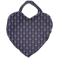 Seamless Pattern Background Fleu Giant Heart Shaped Tote by HermanTelo
