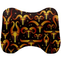 Stylised Horns Black Pattern Head Support Cushion