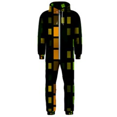 Abstract Plaid Hooded Jumpsuit (men)  by HermanTelo