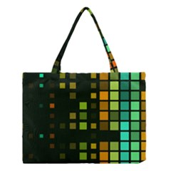 Abstract Plaid Medium Tote Bag
