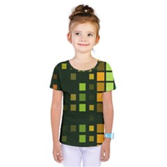 Abstract Plaid Kids  One Piece Tee