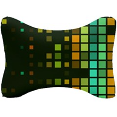 Abstract Plaid Seat Head Rest Cushion
