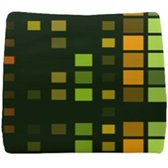Abstract Plaid Seat Cushion