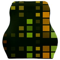 Abstract Plaid Car Seat Velour Cushion  by HermanTelo
