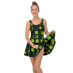 Abstract Plaid Inside Out Casual Dress