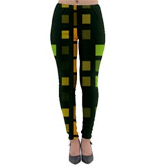 Abstract Plaid Lightweight Velour Leggings by HermanTelo