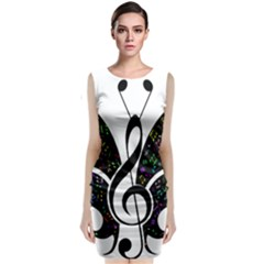 Butterfly Music Animal Audio Bass Classic Sleeveless Midi Dress by HermanTelo