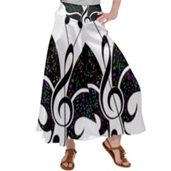 Butterfly Music Animal Audio Bass Satin Palazzo Pants by HermanTelo