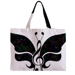 Butterfly Music Animal Audio Bass Zipper Medium Tote Bag by HermanTelo
