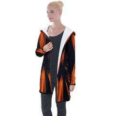 Abstract Light Longline Hooded Cardigan by HermanTelo