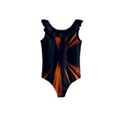 Abstract Light Kids  Frill Swimsuit