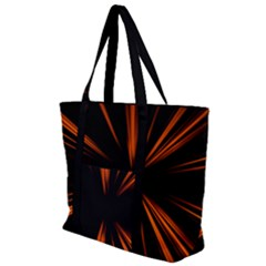 Abstract Light Zip Up Canvas Bag