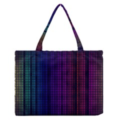 Abstract Background Plaid Zipper Medium Tote Bag by HermanTelo